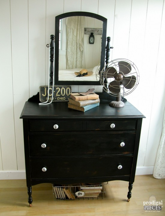Dresser with Classic Vintage Style and Numbered Knobs by Prodigal Pieces | www.prodigalpieces.com