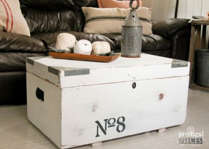After receiving this trunk for free, all it needed was some hardware and industrial touches to give it some kick by Prodigal Pieces www.prodigalpieces.com #prodigalpieces