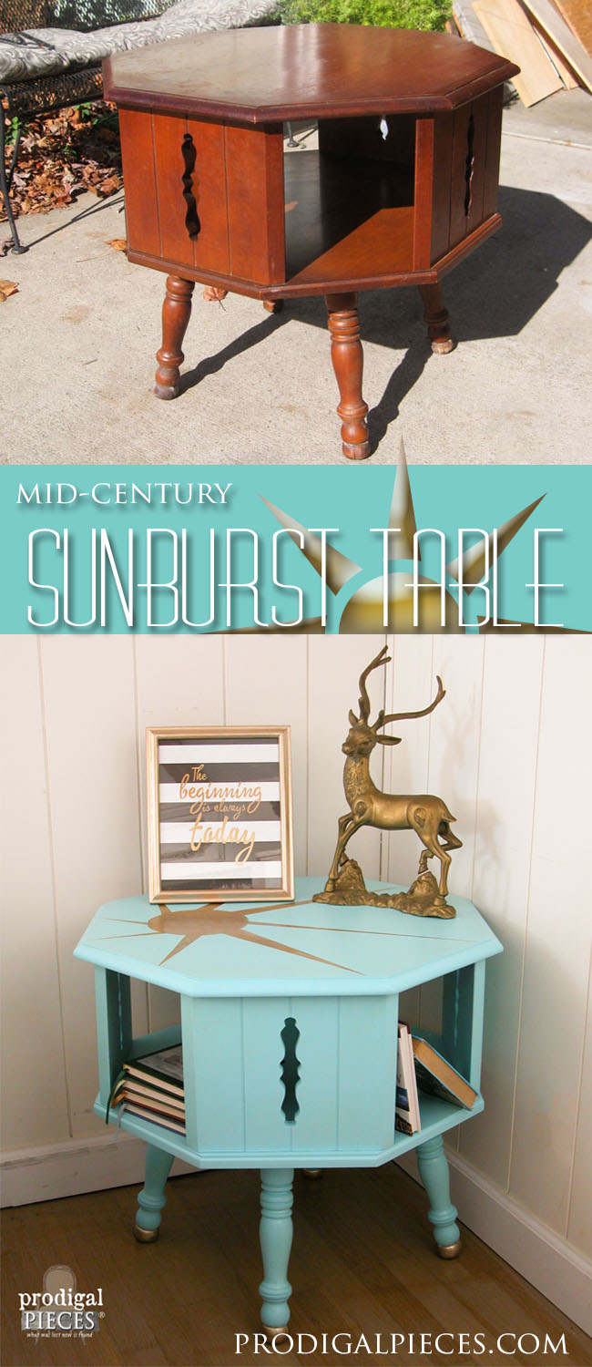Mid Century Sunburst Table | Prodigal Pieces | prodigalpieces.com