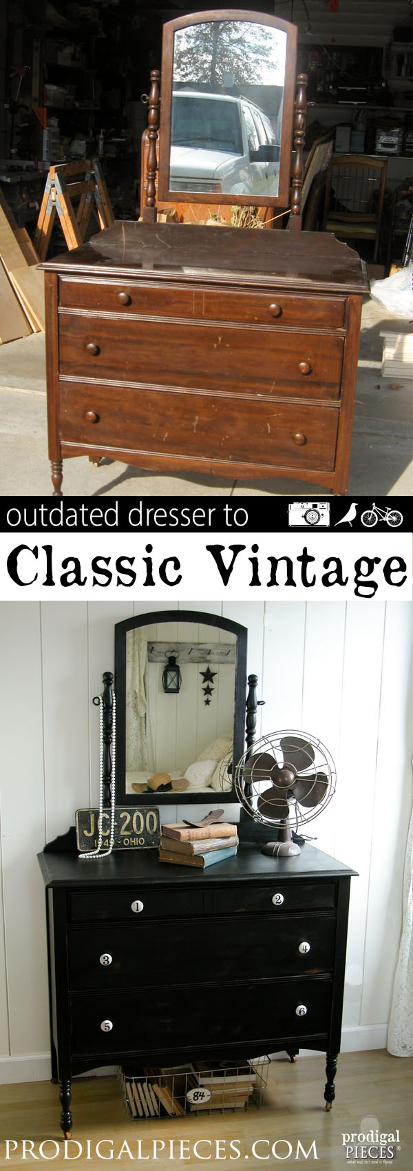 An outdated dresser just needs a little TLC and new look to get it back to the classic vintage style by Prodigal Pieces | prodigalpieces.com
