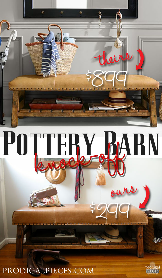 Knock-Off Pottery Barn Bench | Prodigal Pieces | www.prodigalpieces.com