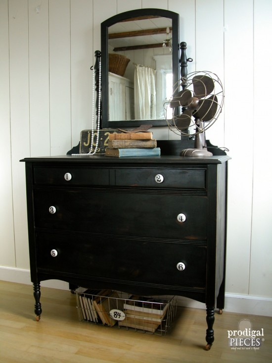 Vintage Dresser Makeover with Vintage Chic Flair by Prodigal Pieces | www.prodigalpieces.com