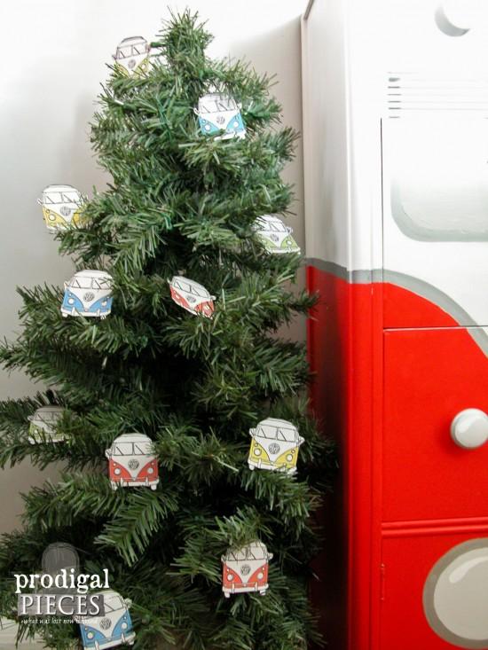 Christmas Tree Volkswagen Bus Ornaments   prodigalpieces.com