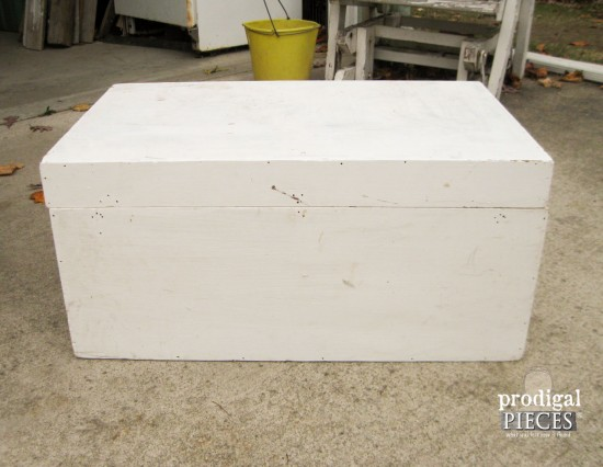 White Painted Trunk Before | prodigalpieces.com