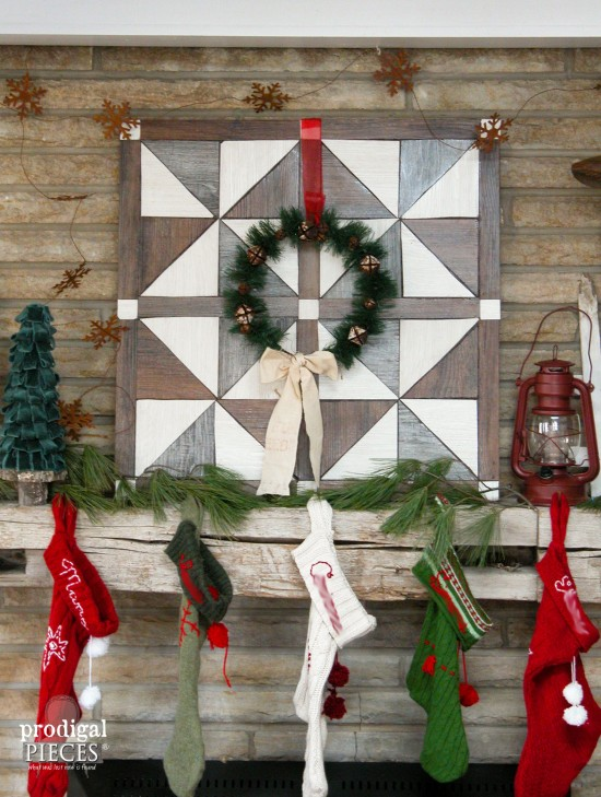 Faux Barn Wood Quilt Made from Vinyl Flooring by Prodigal Pieces | www.prodigalpieces.com