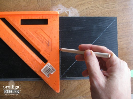 Making Tile Squares for Faux Barn Wood Quilt | Prodigal Pieces | www.prodigalpieces.com