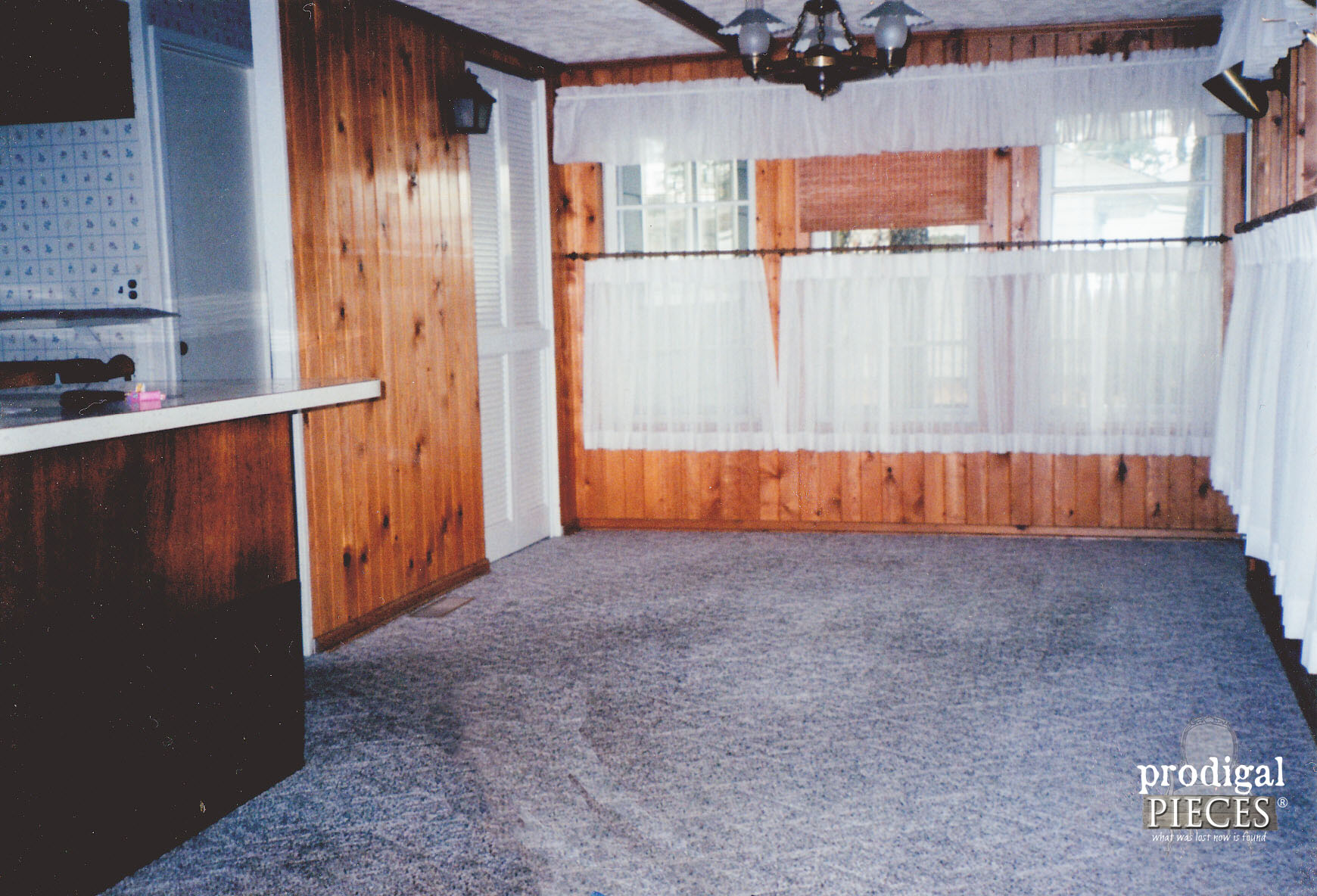 "Ranch Home with Carpeted Dining Area ""Before"" by Prodigal Pieces 