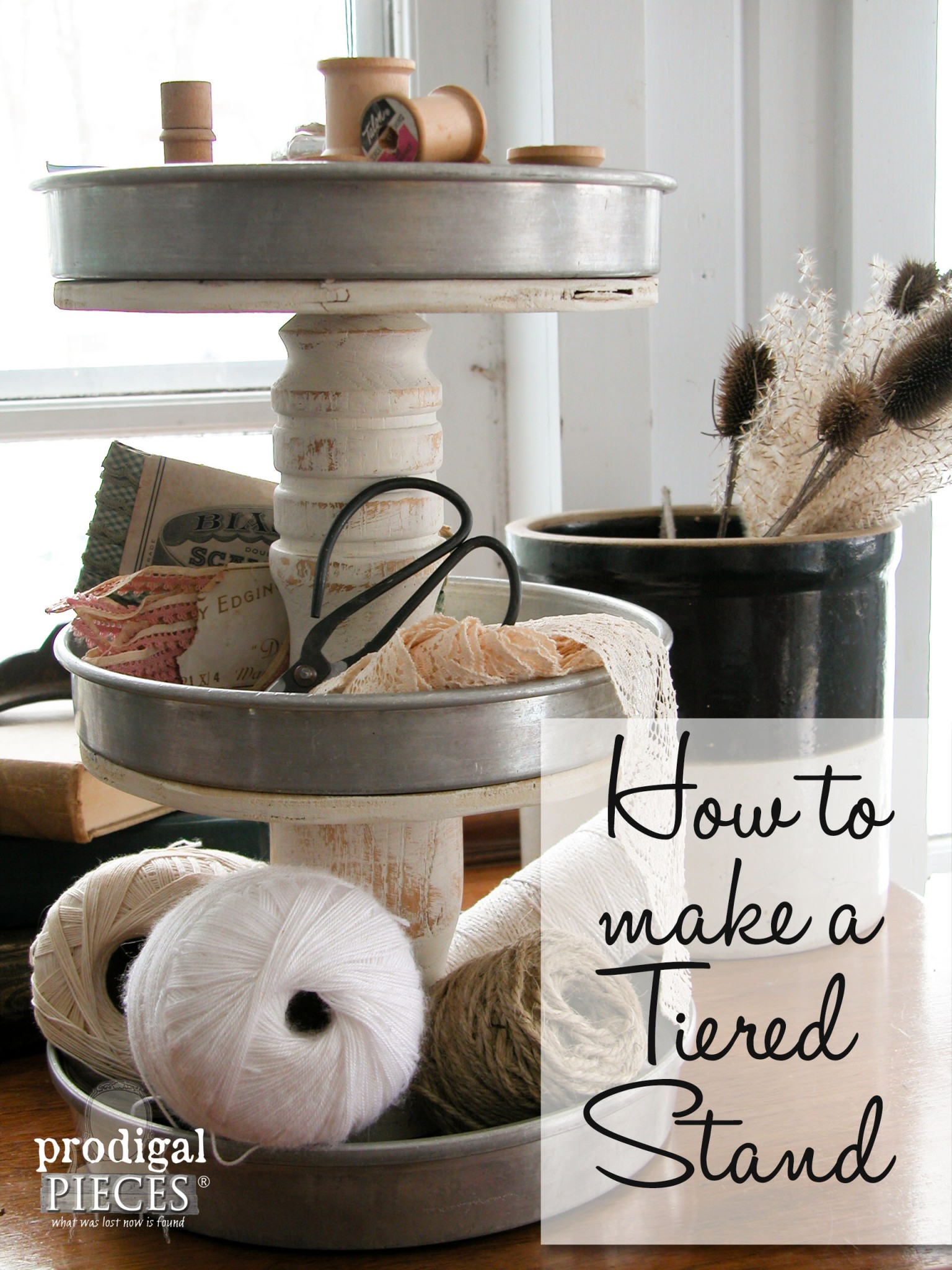 How to Make a Tiered Stand| Prodigal Pieces | www.prodigalpieces.com