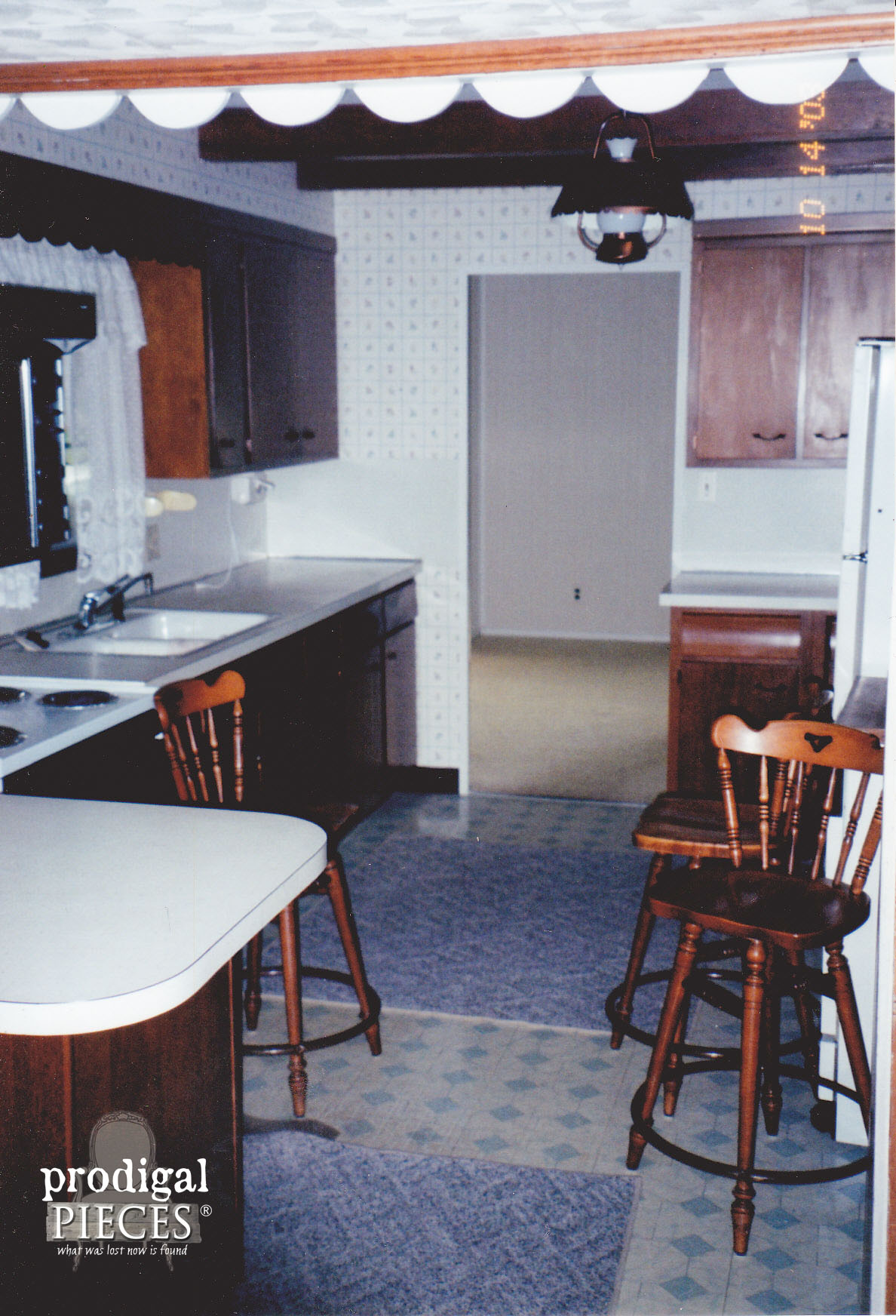 Outdated Kitchen Remodel with New Flooring by Prodigal Pieces | prodigalpieces.com