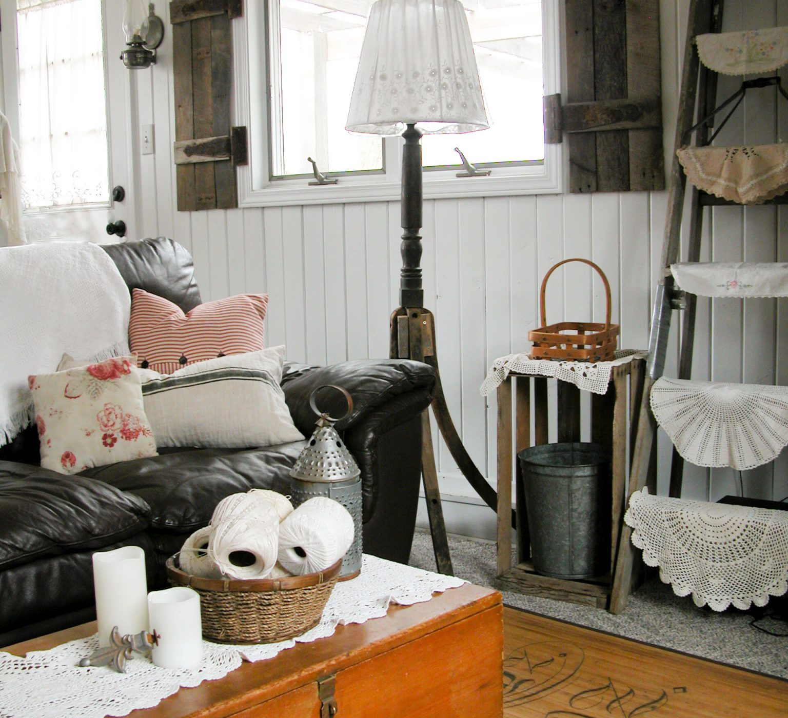 Antique Rockers Turned into Funky Floor Lamp | Prodigal PIeces | www.prodigalpieces.com