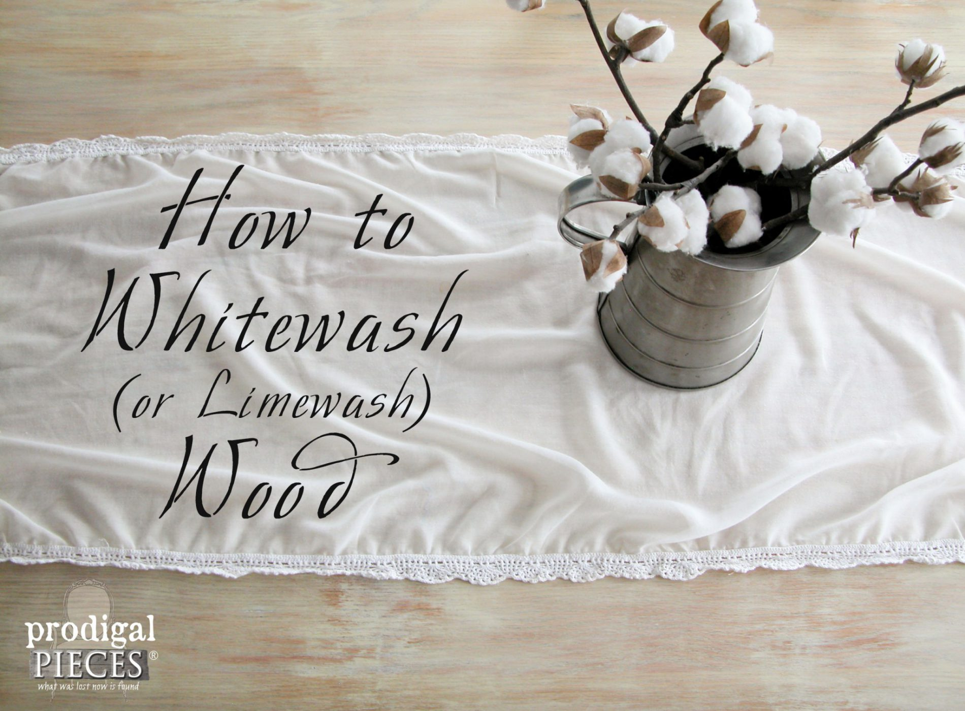 How to Whitewash (or Limewash) Wood by Prodigal Pieces | www.prodiglpieces.com