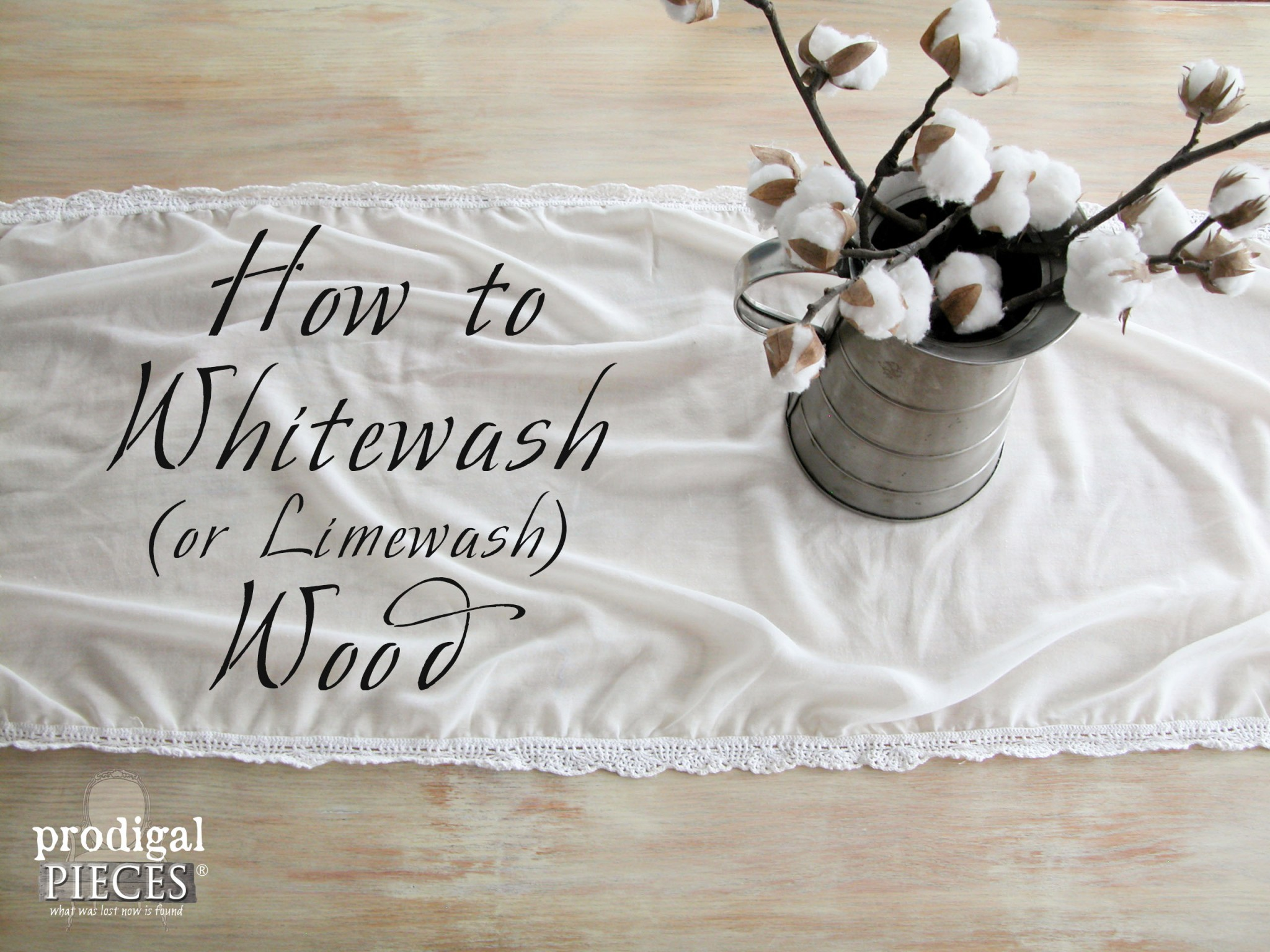 How to Whitewash (or Limewash) Wood by Prodigal Pieces | www.prodiglpieces.com