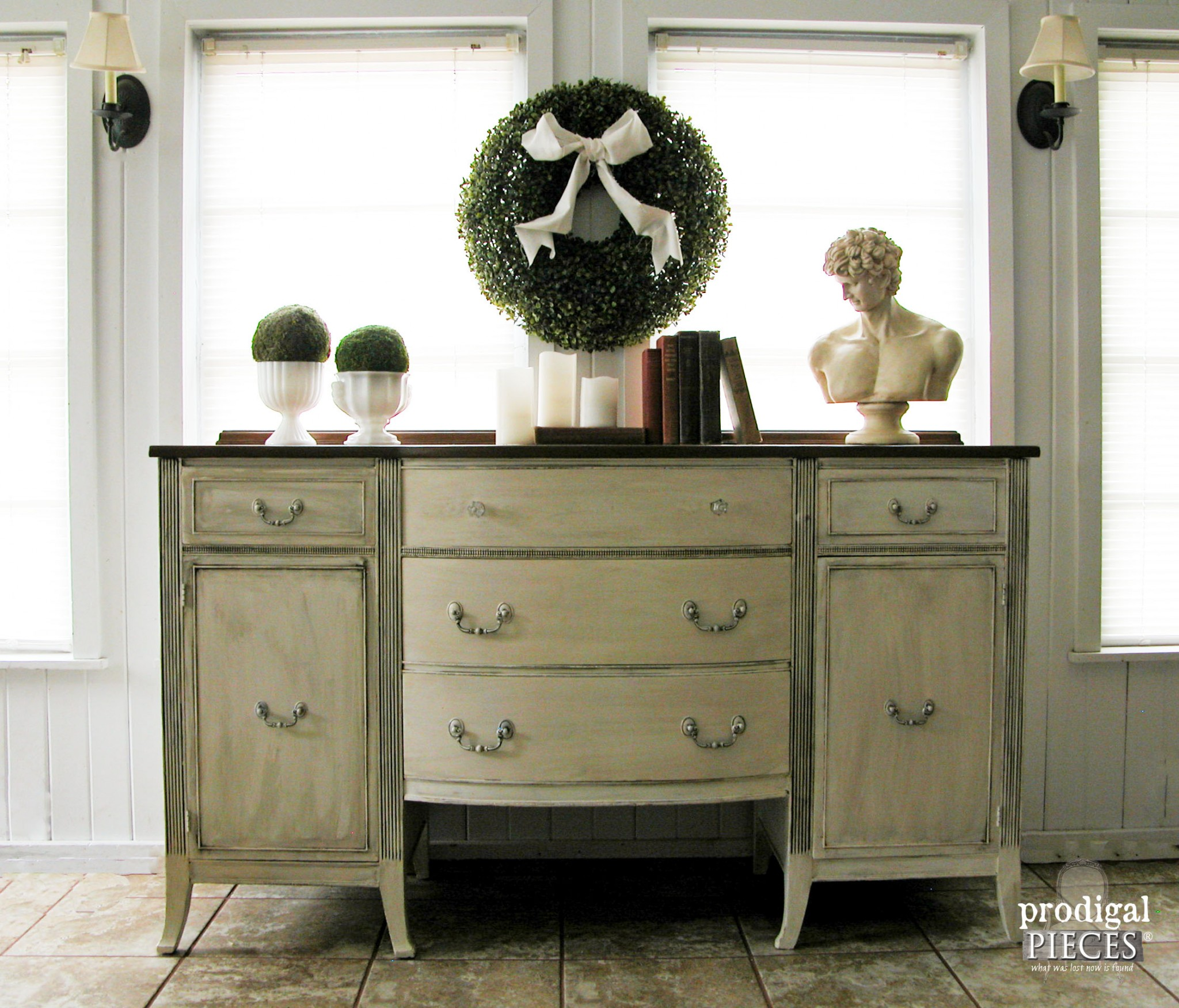 Vintage Duncan Phyfe Sideboard Gets Makeover by Prodigal Pieces | www.prodigalpieces.com