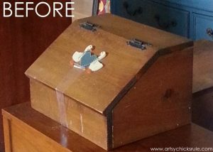 Old Bread Box Makeover by Artsy Chicks Rule