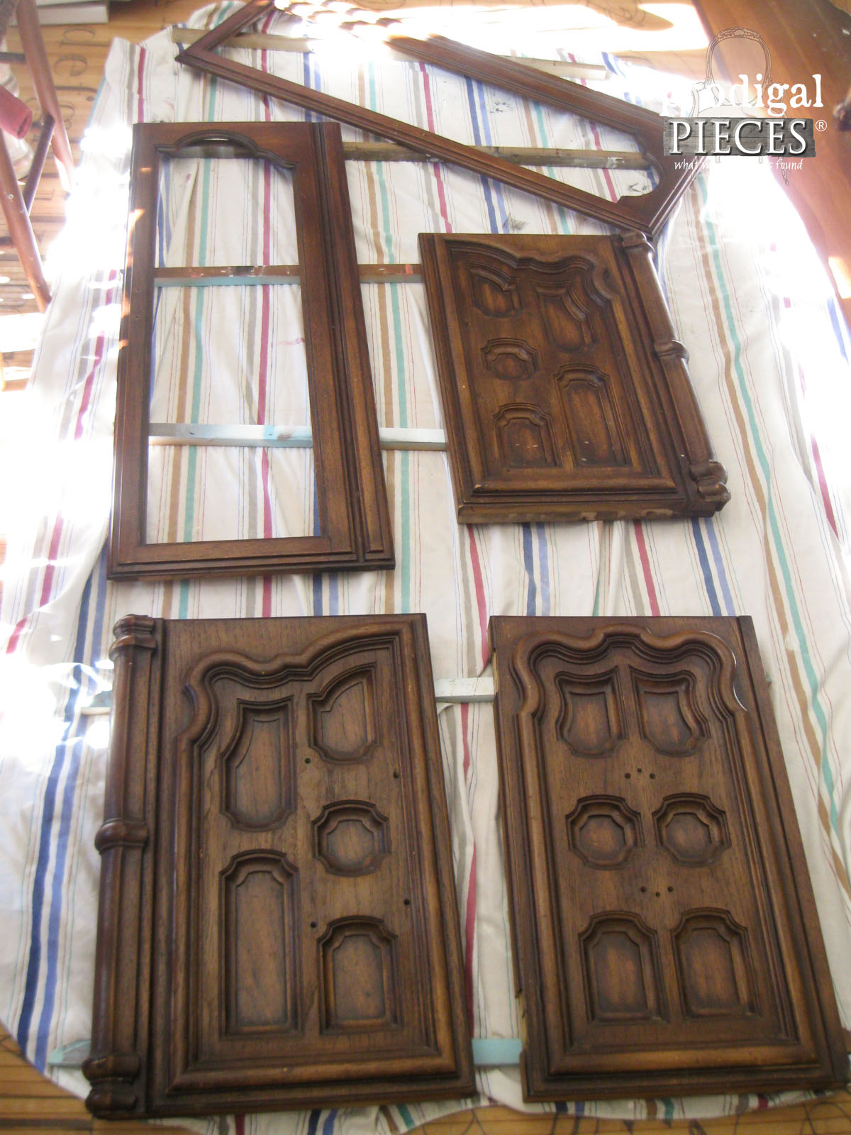 Prepping China Cabinet Doors for Makeover by Prodigal Pieces | www.prodigalpieces.com