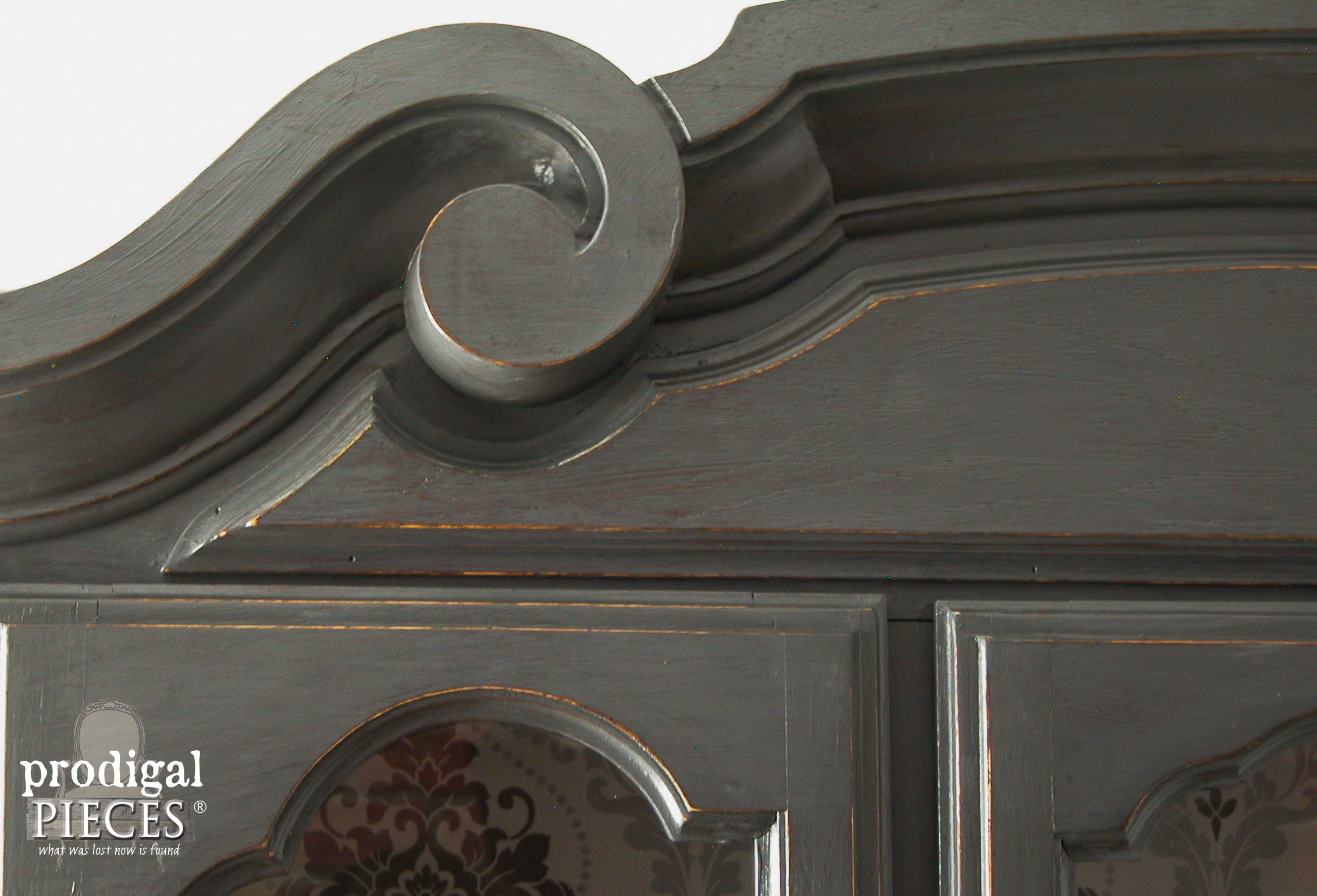 Top of Distressed China Cabinet by Prodigal Pieces | www.prodigalpieces.com