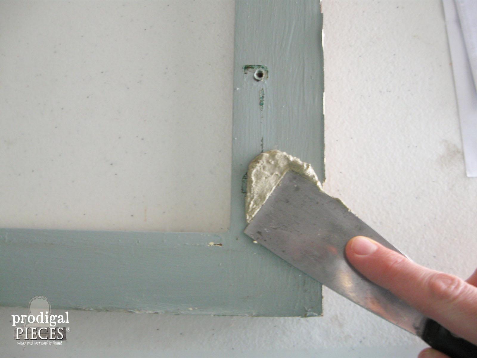 Preparing Cabinet Face for Repurposing | Prodigal Pieces | www.prodigalpieces.com