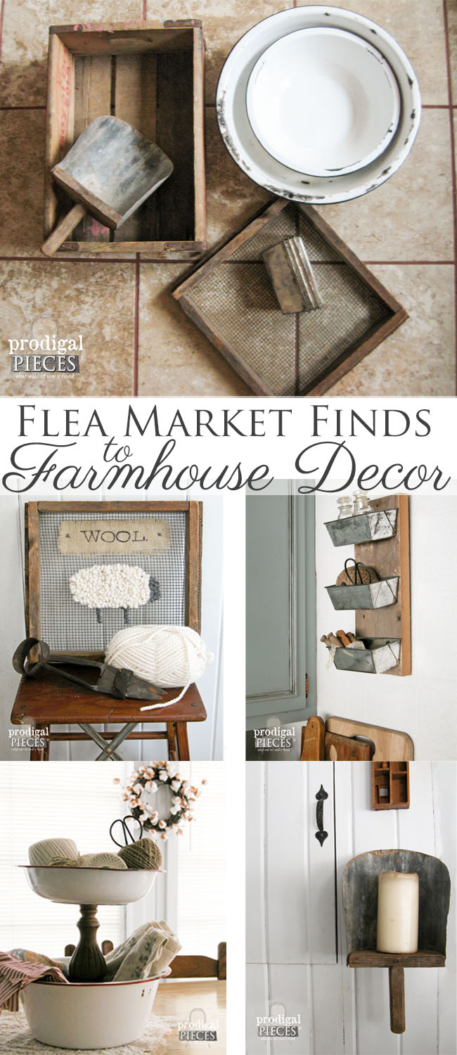 Flea Market Finds Repurposed Into Farmhouse Decor by Prodigal Pieces | prodigalpieces.com