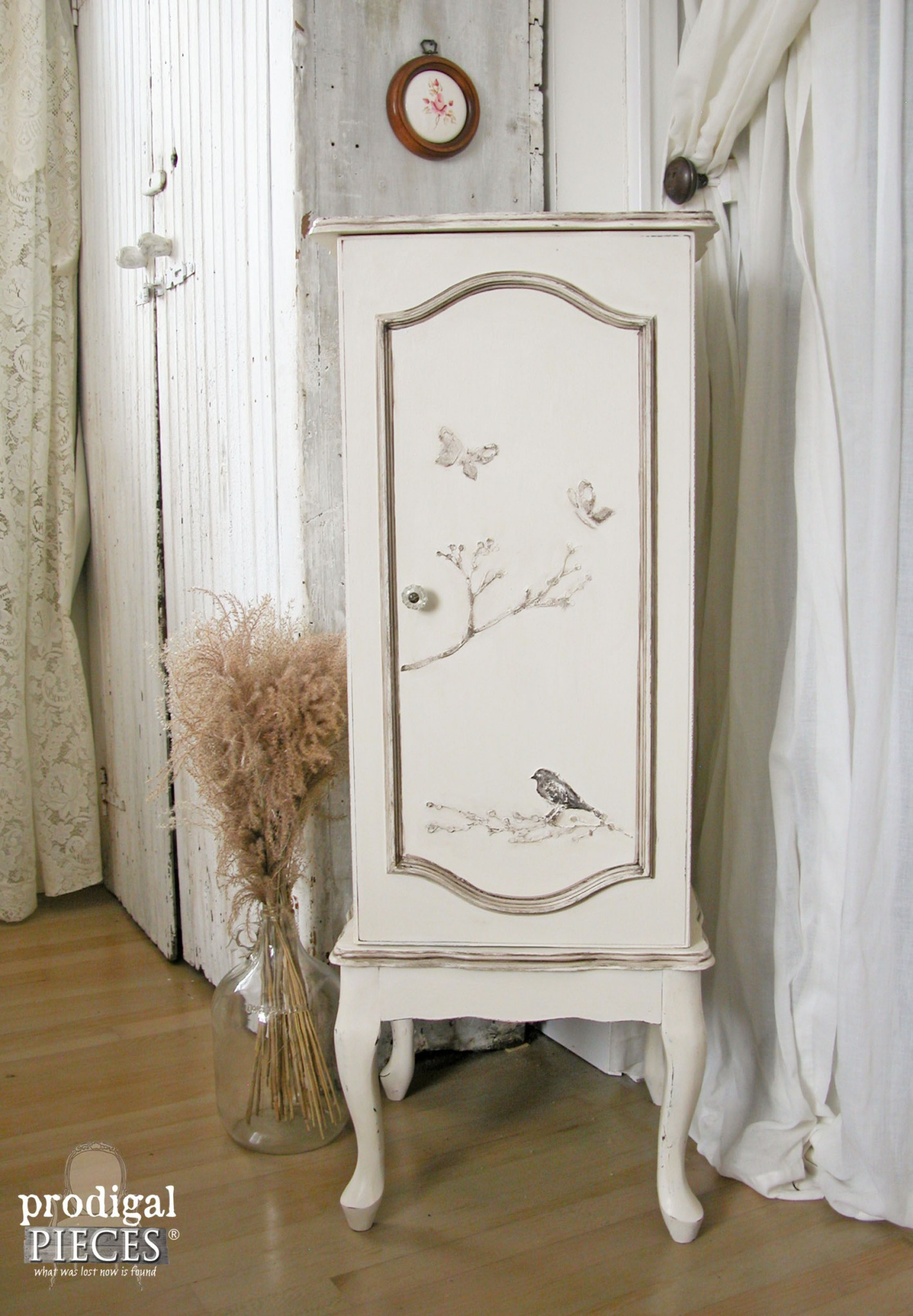Embossed Birds & Berries Jewelry Armoire by Prodigal Pieces | www.prodigalpieces.com