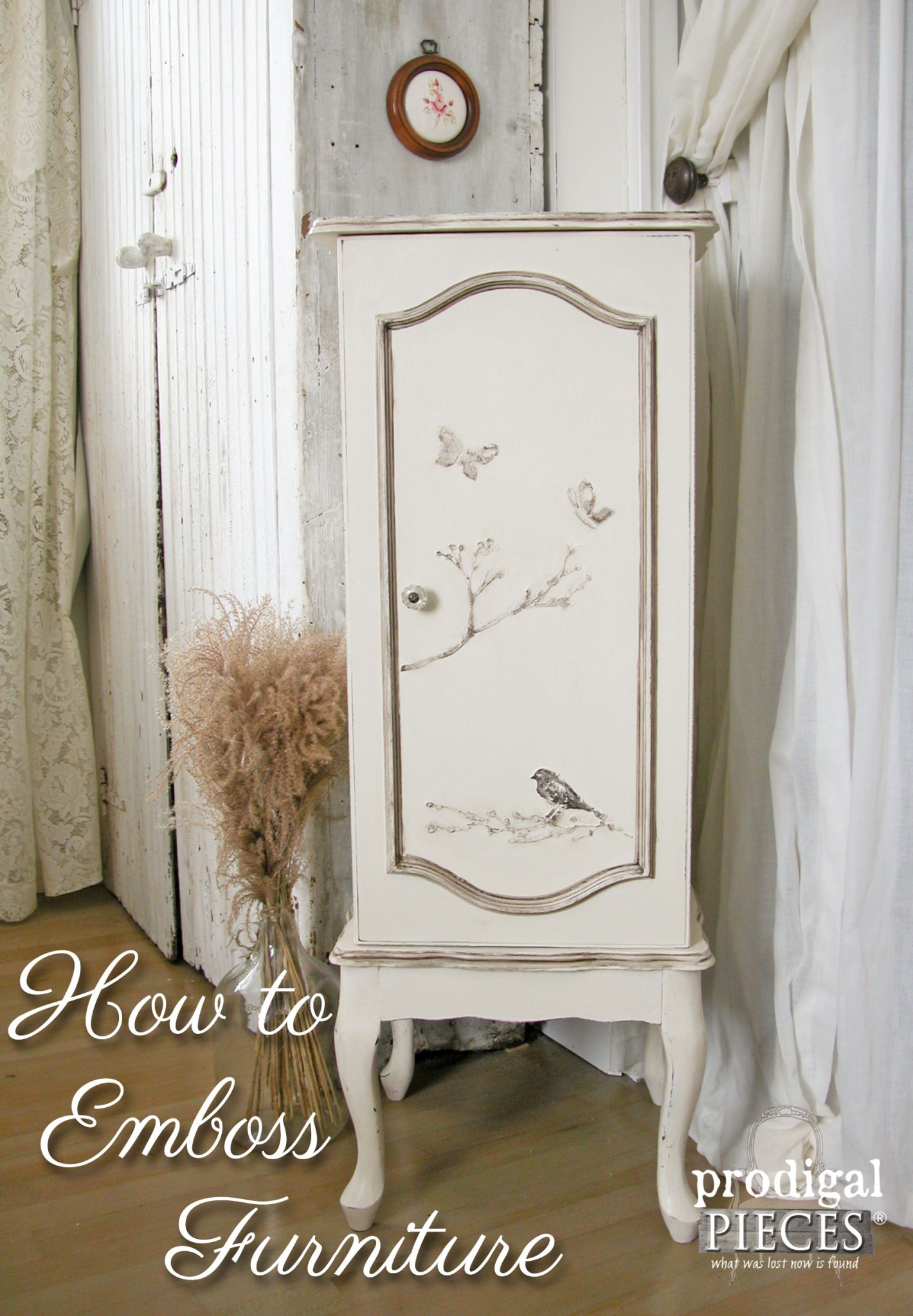 How to Emboss Furniture with Stencils by Prodigal Pieces | www.prodigalpieces.com
