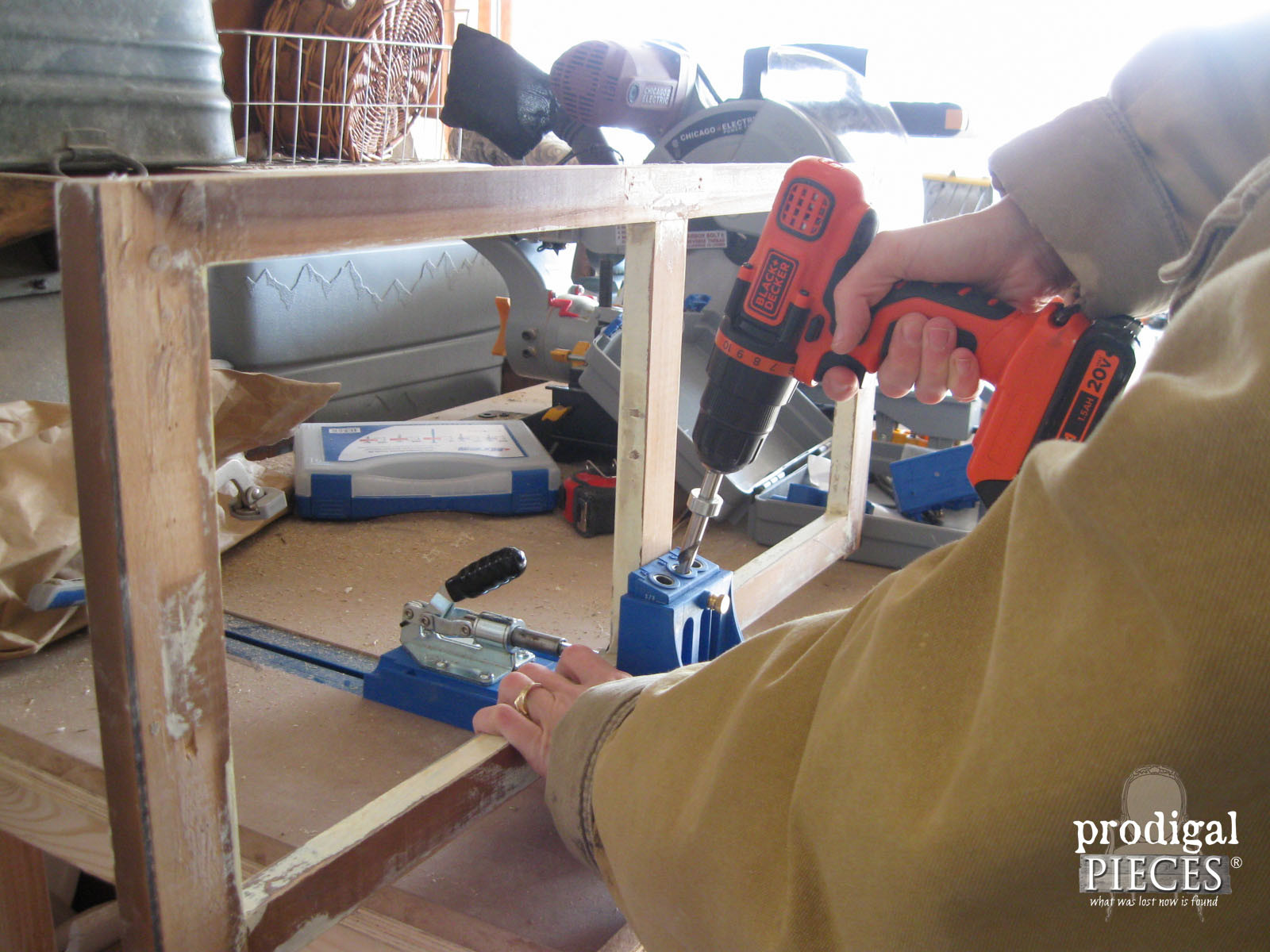 Creating Pocket Screw Holes with my Kreg Jig | Prodigal Pieces | www.prodigalpieces.com