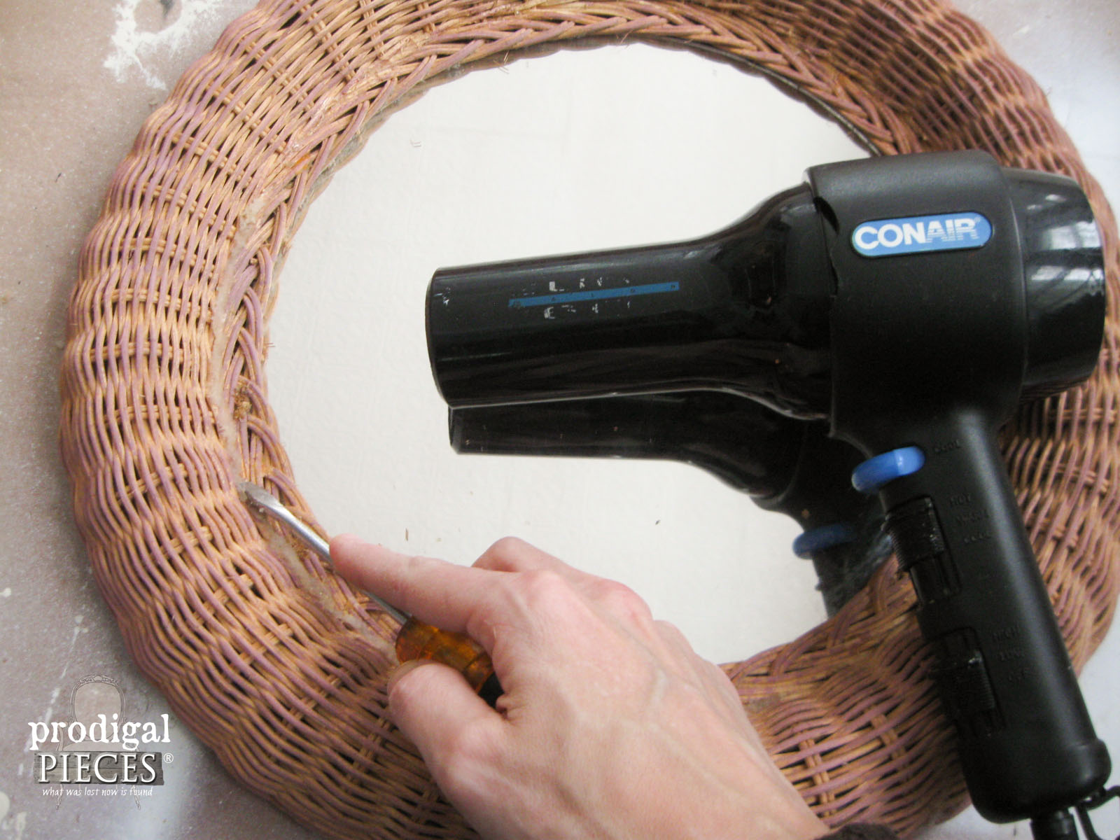 Use Hairdryer to Remove Hot Glue | Prodigal Pieces | www.prodigalpieces.com