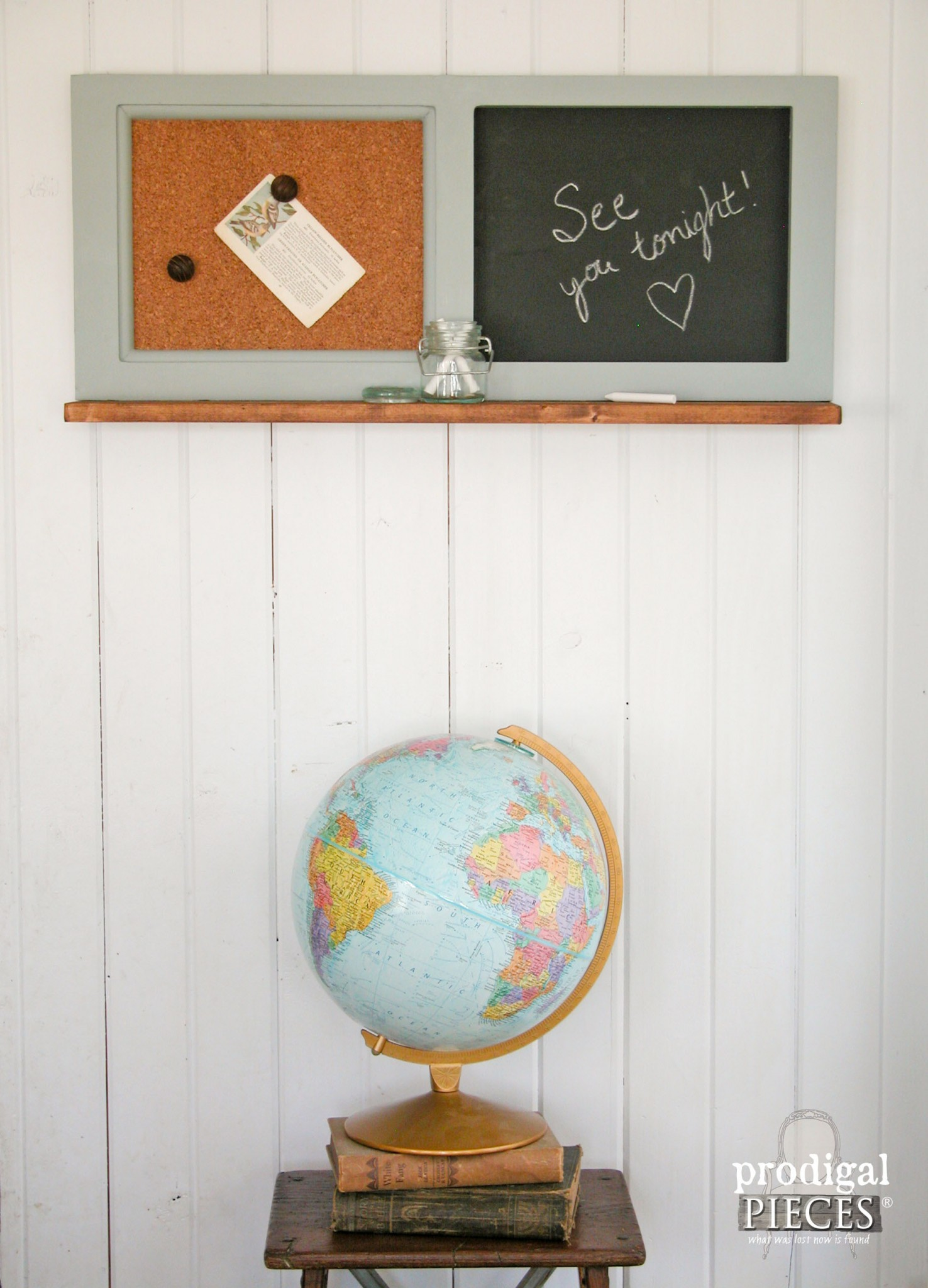 Message Center Created from Repurposed Kitchen Cabinets by Prodigal Pieces | www.prodigalpieces.com
