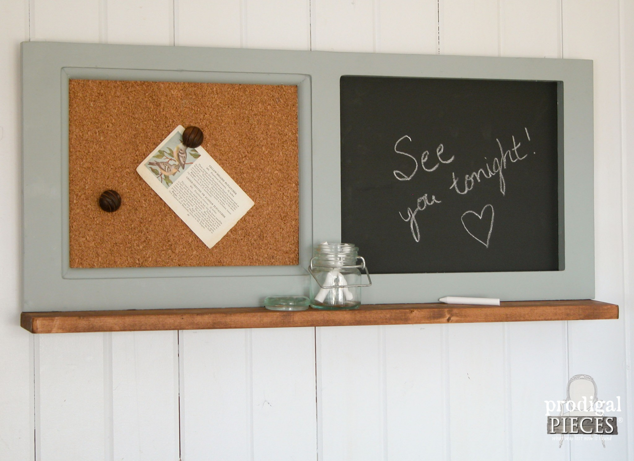 Message Center made from Repurposed Kitchen Cabinet by Prodigal Pieces | www.prodigalpieces.com