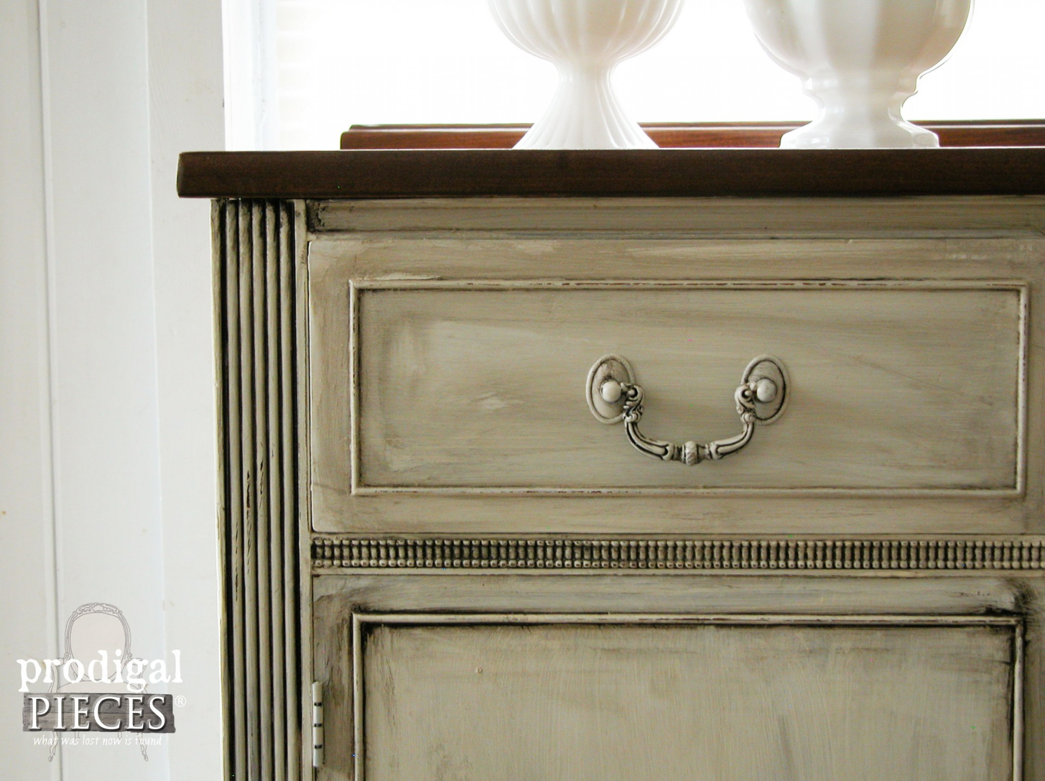 Glazed Vintage Sideboard by Prodigal Pieces | www.prodigalpieces.com