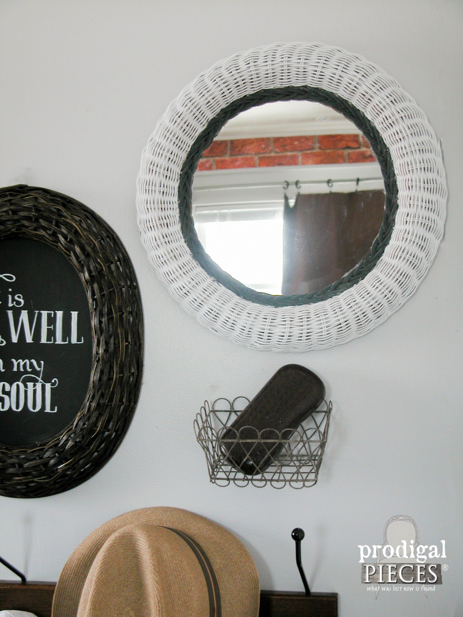 Thrifted Mirror Becomes Wall Art by | Prodigal Pieces | www.prodigalpieces.com