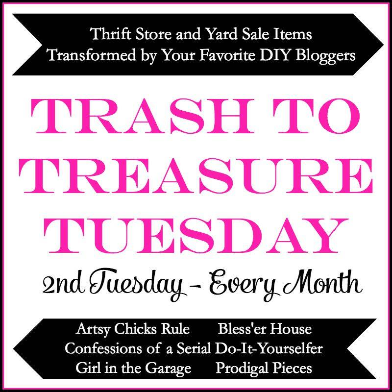 Trash to Treasure Tuedays - Thrifted Makeover Fun | Prodigal Pieces | prodigalpieces.com
