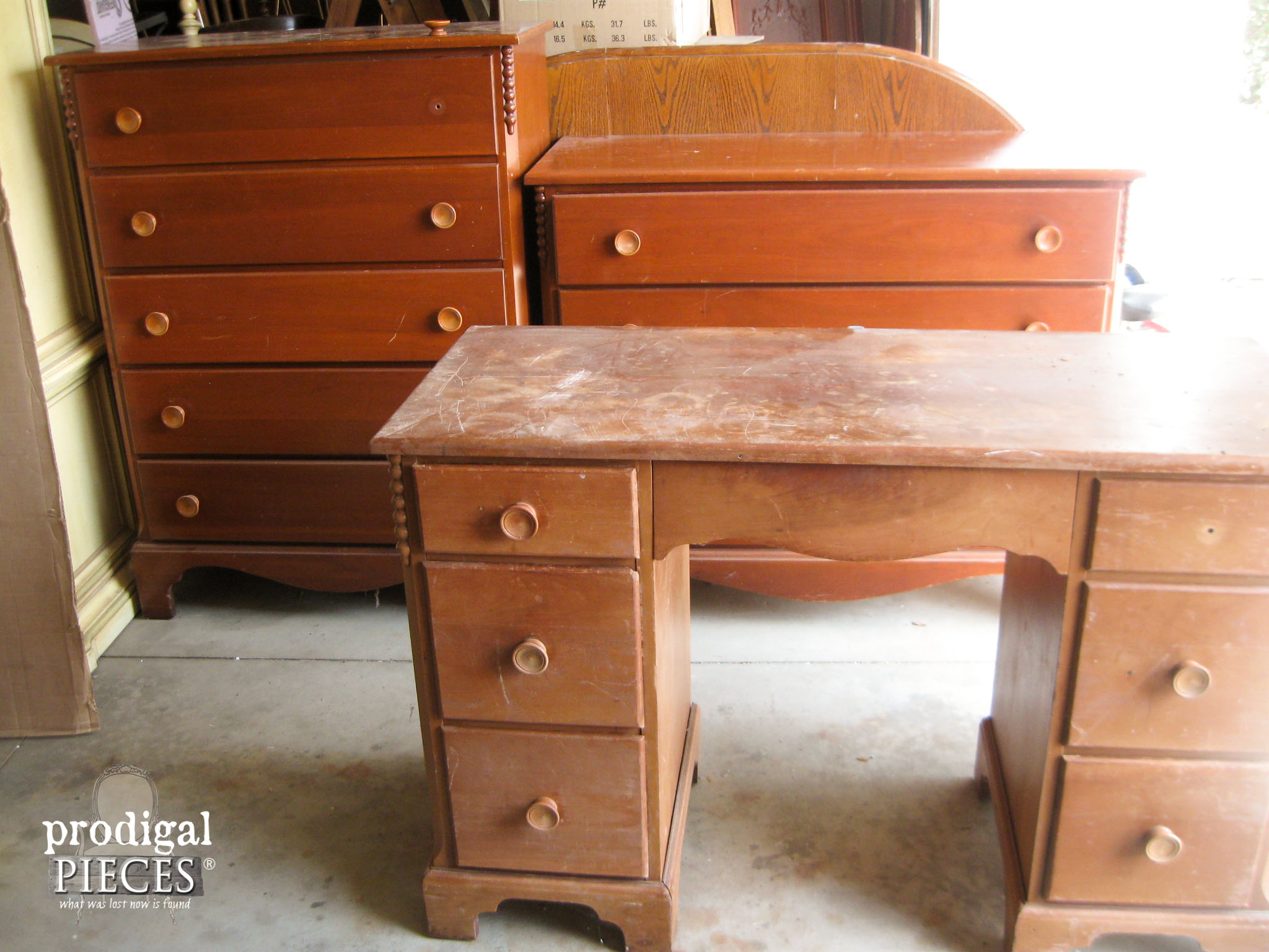 Vintage Cherry Bedroom Set Reunited | Prodigal Pieces |  Www.prodigalpieces.com