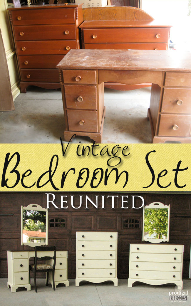 Vintage Cherry Bedroom Set Reunited at last by Prodigal Pieces | www.prodigalpieces.com
