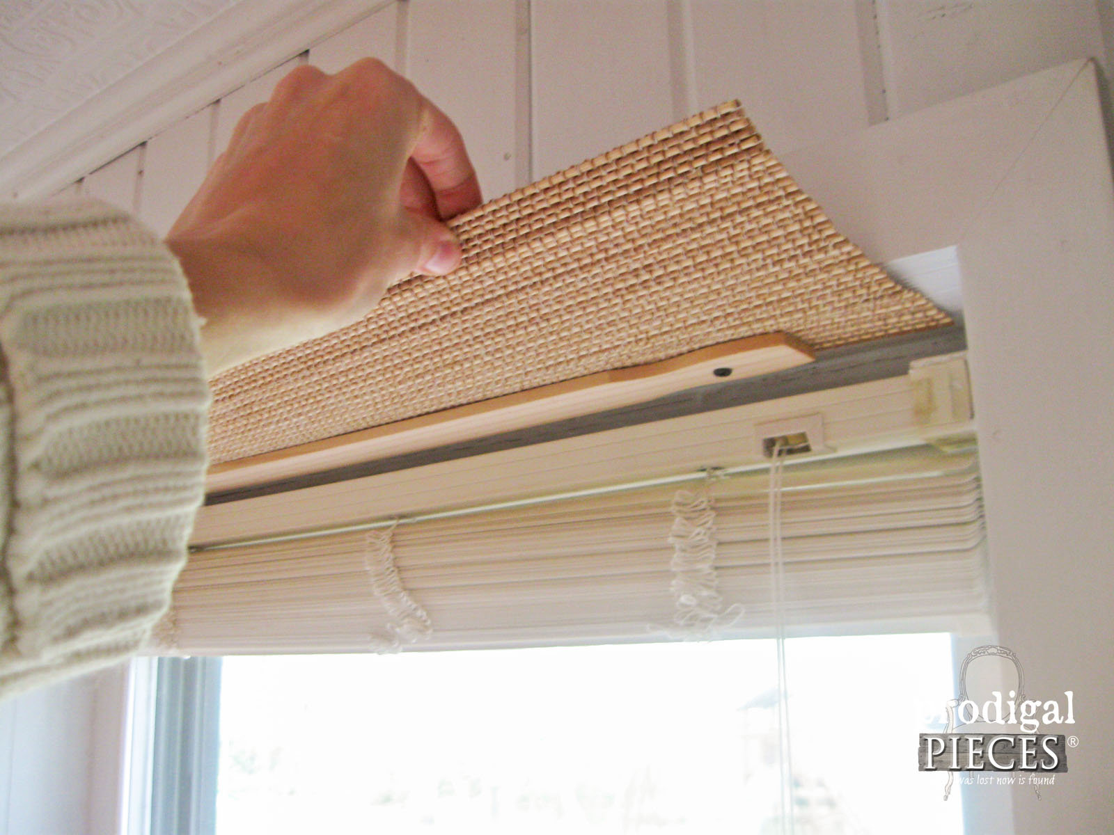 Attaching Faux Bamboo Window Treatment | Prodigal Pieces |www.prodigalpieces.com