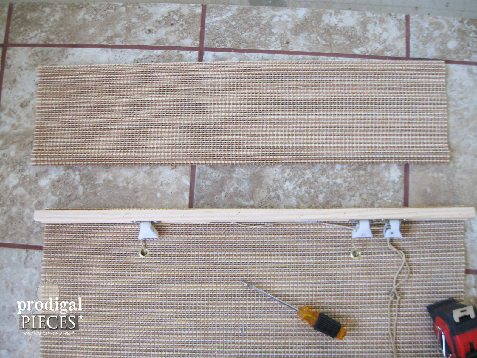 Bamboo Valance Removed for Window Treatment | Prodigal Pieces | www.prodigalpieces.com