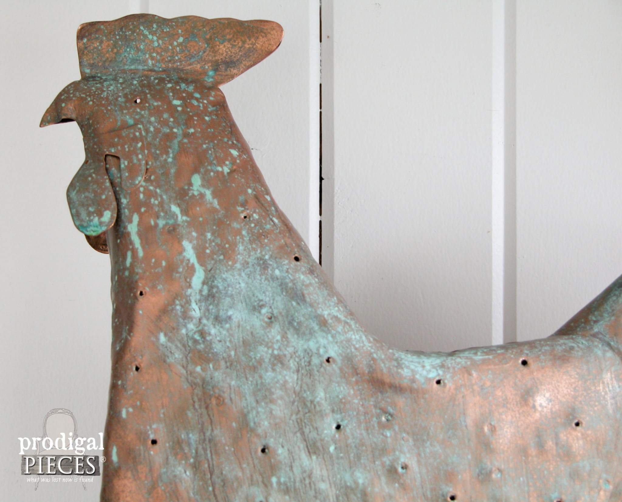 Close-up of Copper Patina on Reclaimed Metal Art by Prodigal Pieces | www.prodigalpieces.com