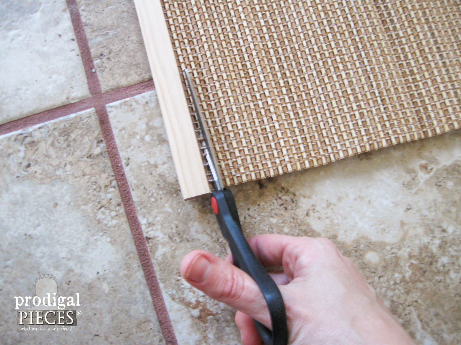 Cutting Bottom of Bamboo Shade | Prodigal Pieces | www.prodigalpieces.com