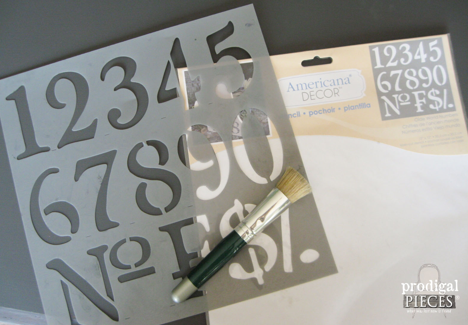 DecoArt Olde World Numbers Stencil | Prodigal Pieces | www.prodigalpieces.com