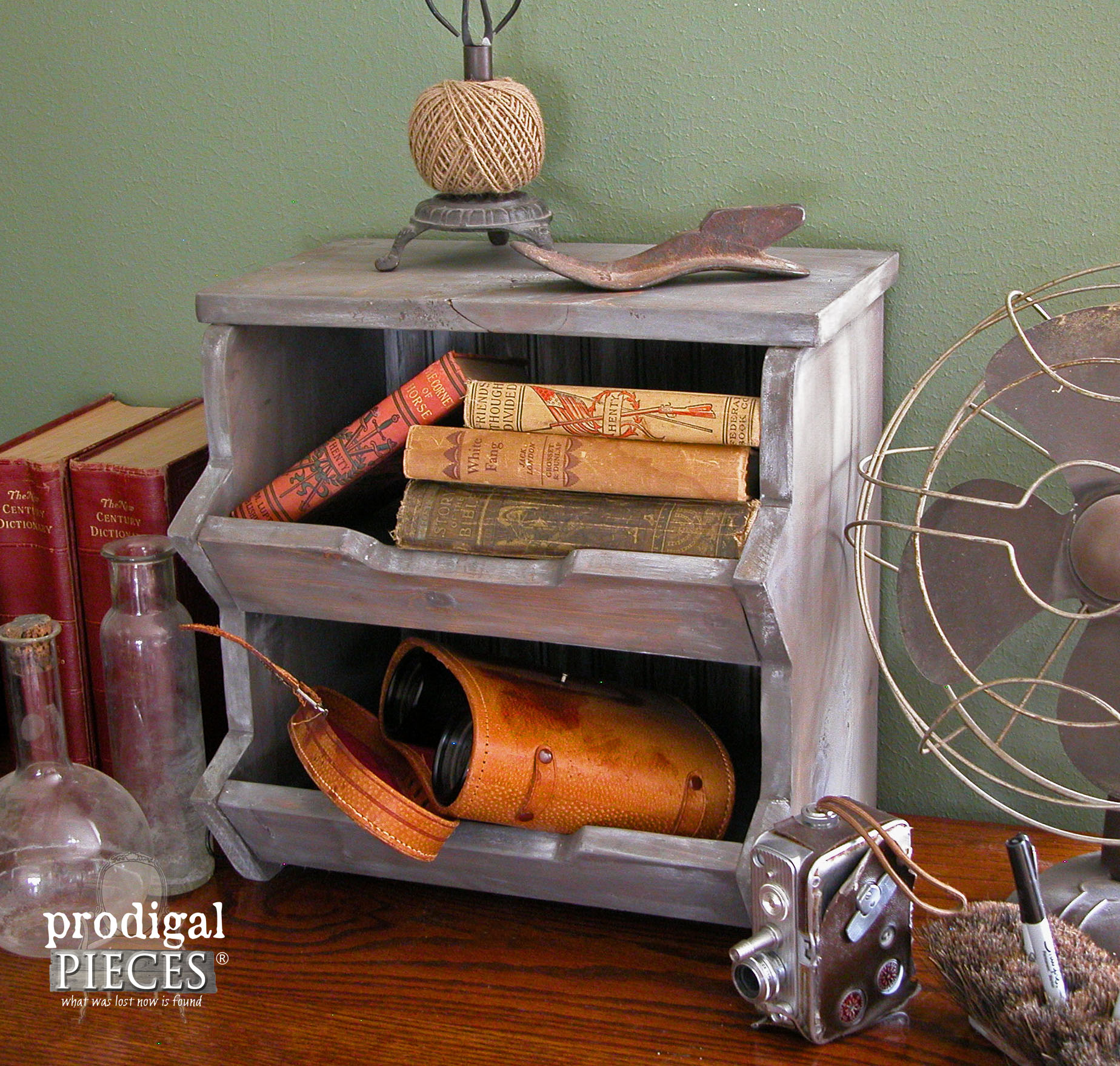 Desk Top Storage Bin with Plans to Build Your Own by Prodigal Pieces | www.prodigalpieces.com