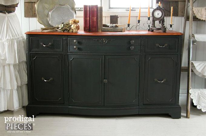 Featured Black Vintage Buffet   Prodigal Pieces   www.prodigalpieces.com