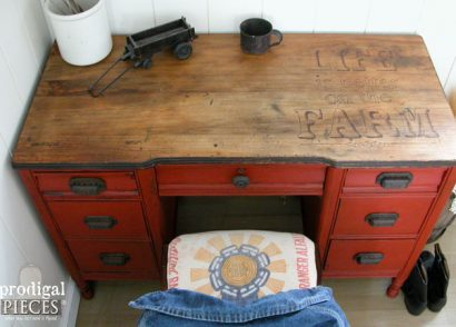Featured Farmhouse Desk by Prodigal Pieces | www.prodigalpieces.com