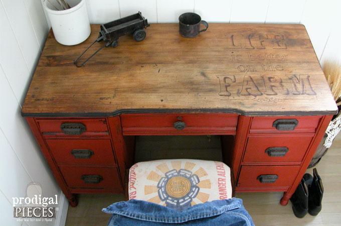 Featured Farmhouse Desk by Prodigal Pieces | www.prodigalpieces.com