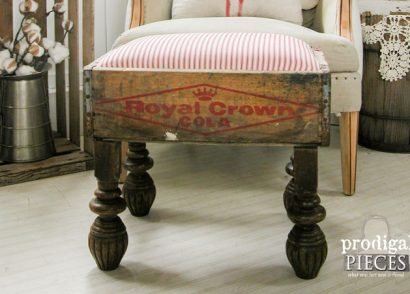 Featured Repurposed Foot Stool by Prodigal Pieces | www.prodigalpieces.com