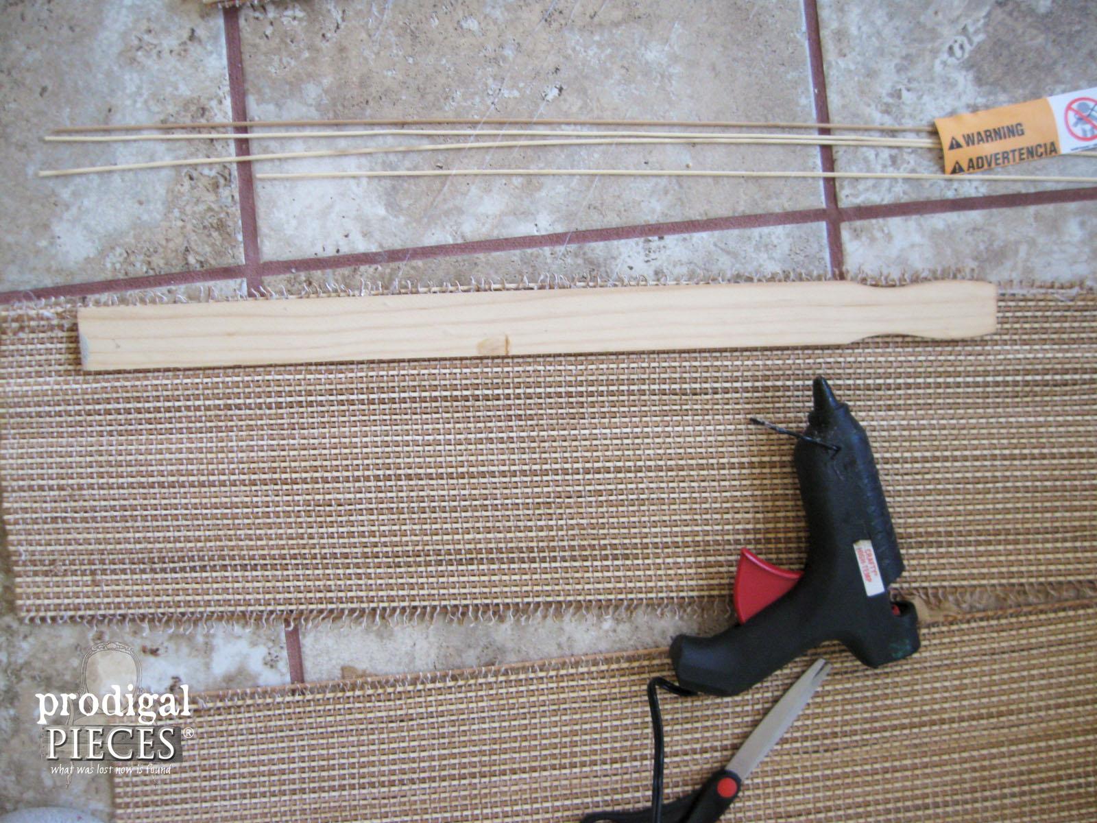 Applying Stir Stick with Hot Glue | Prodigal Pieces | www.prodigalpieces.com