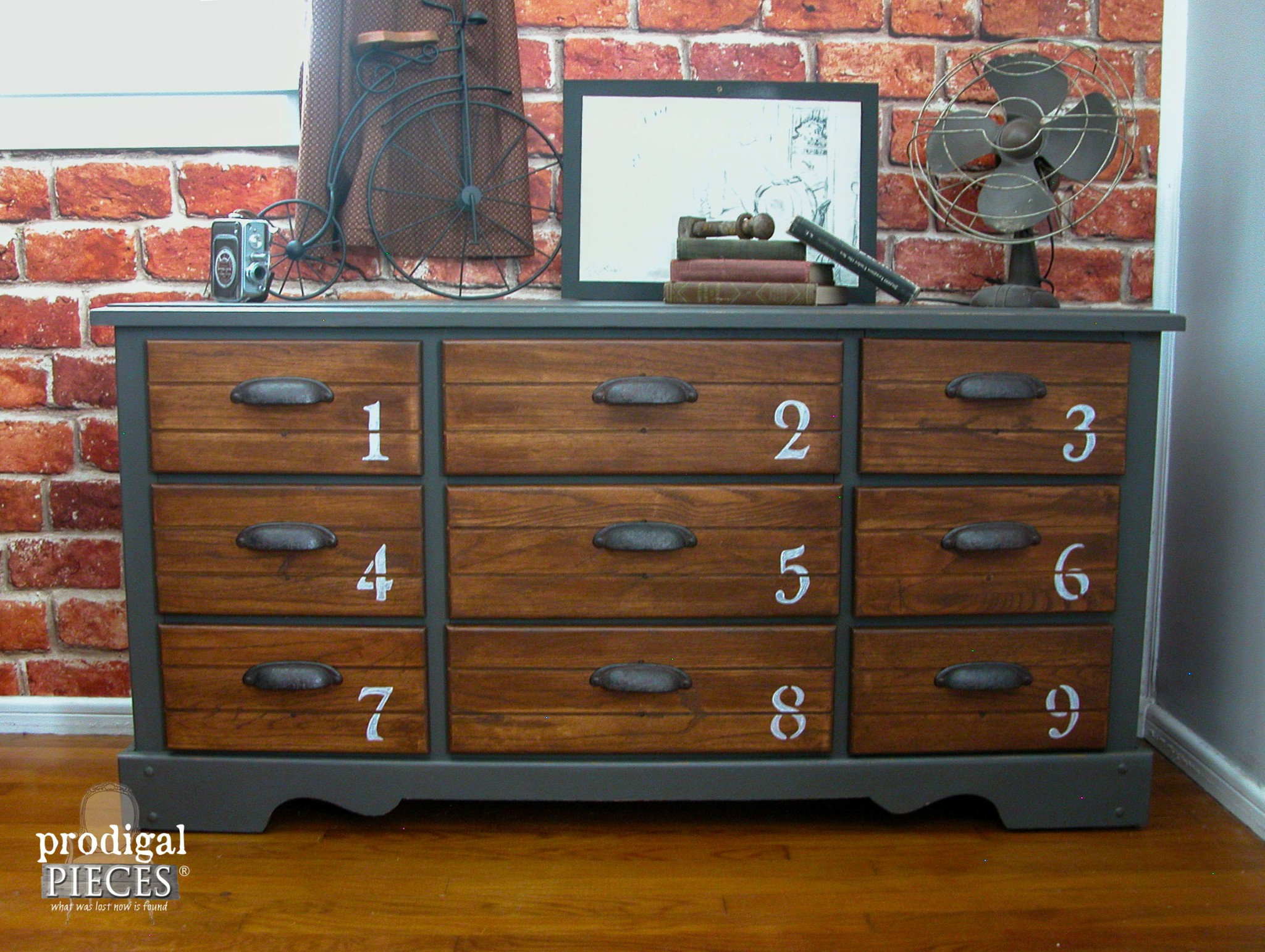 Industrial Style Vintage Dresser Makeover by Prodigal Pieces | www.prodigalpieces.com