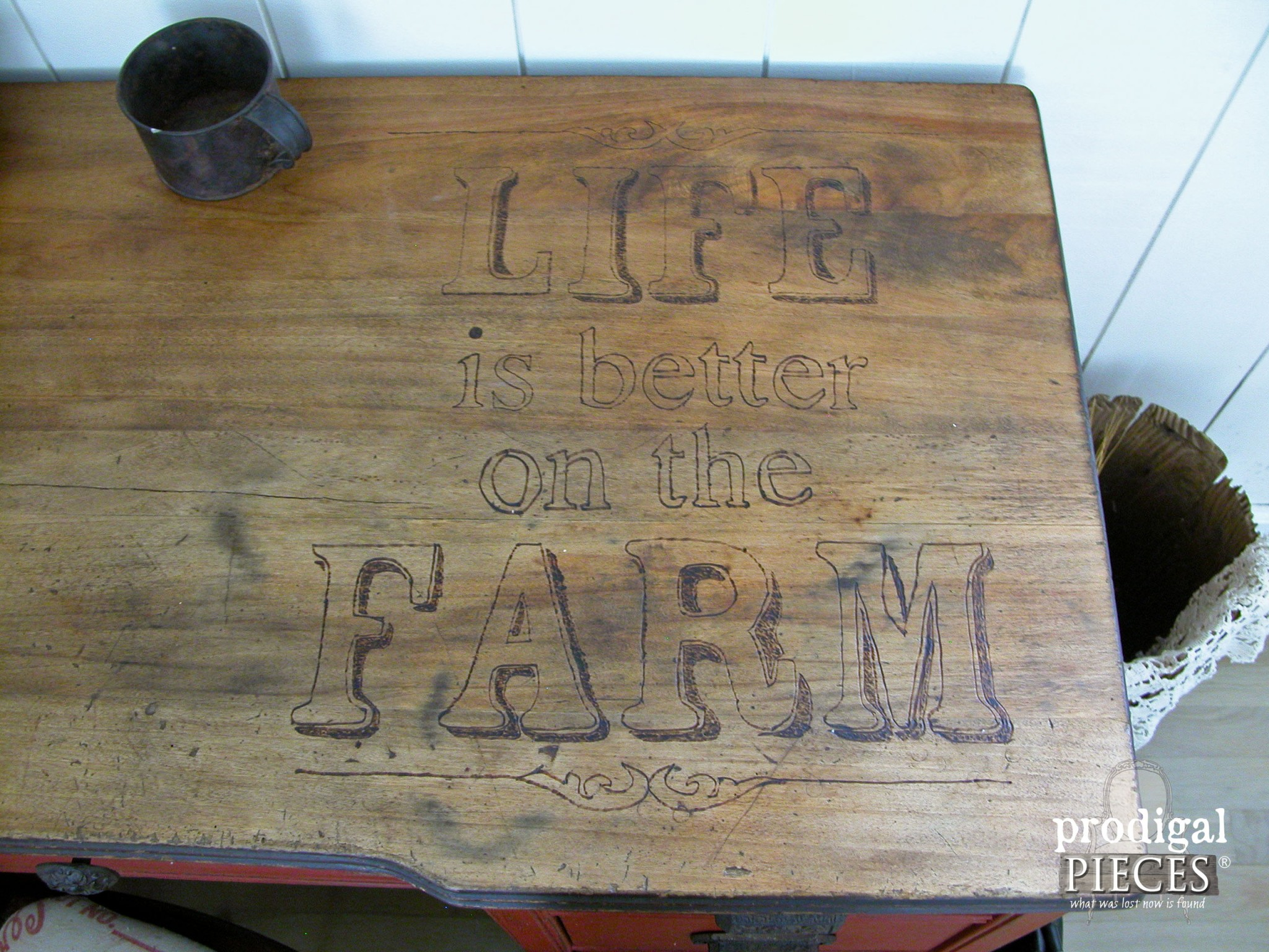 Life is Better on the Farm Desk Makeover by Prodigal Pieces | www.prodigalpieces.com