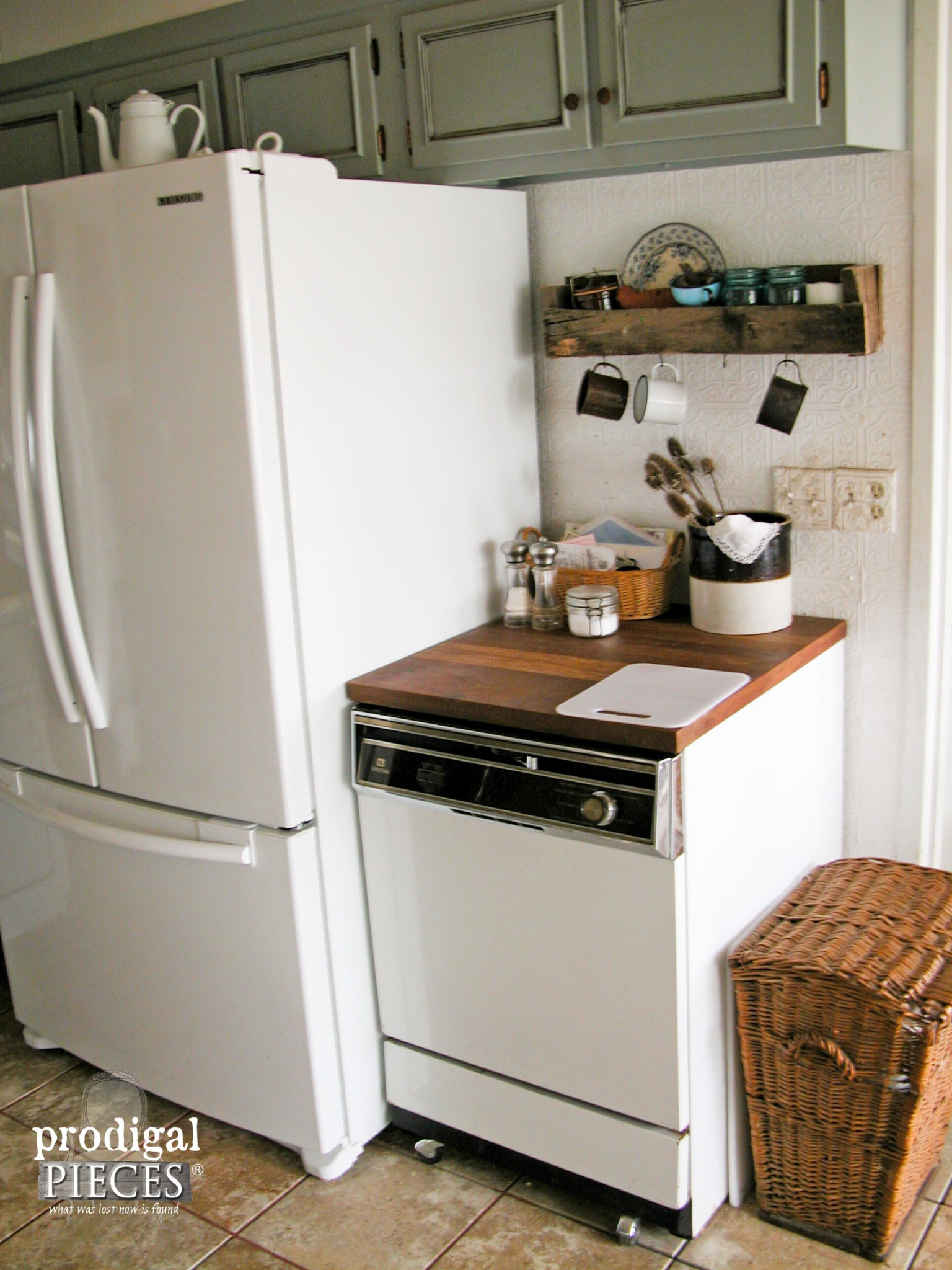 Old Portable Dishwasher in Kitchen Remodel | Prodigal Pieces | www.prodigalpieces.com