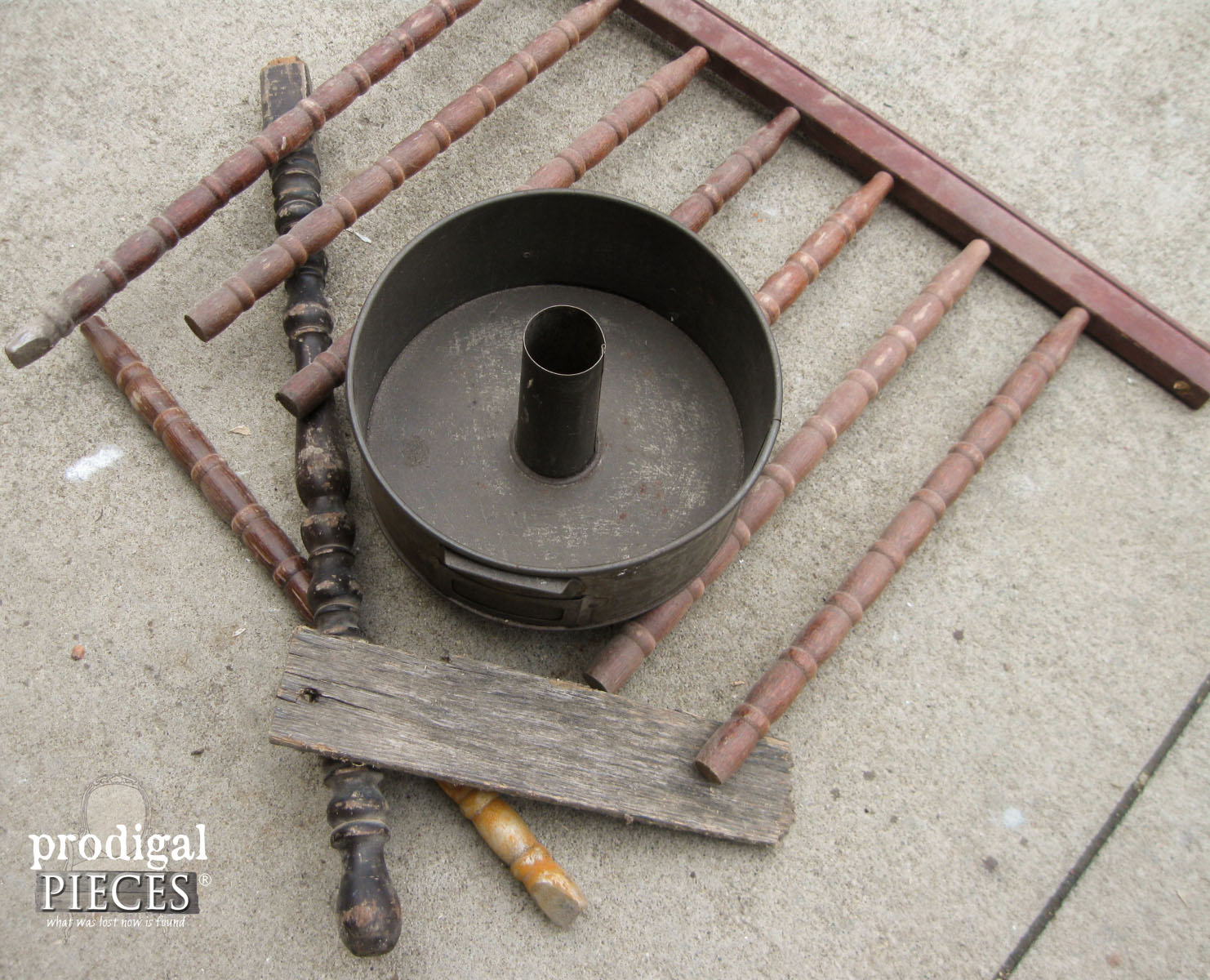 Pile of Reclaimed Parts for Easter Cross   Prodigal Pieces   www.prodigalpieces.com