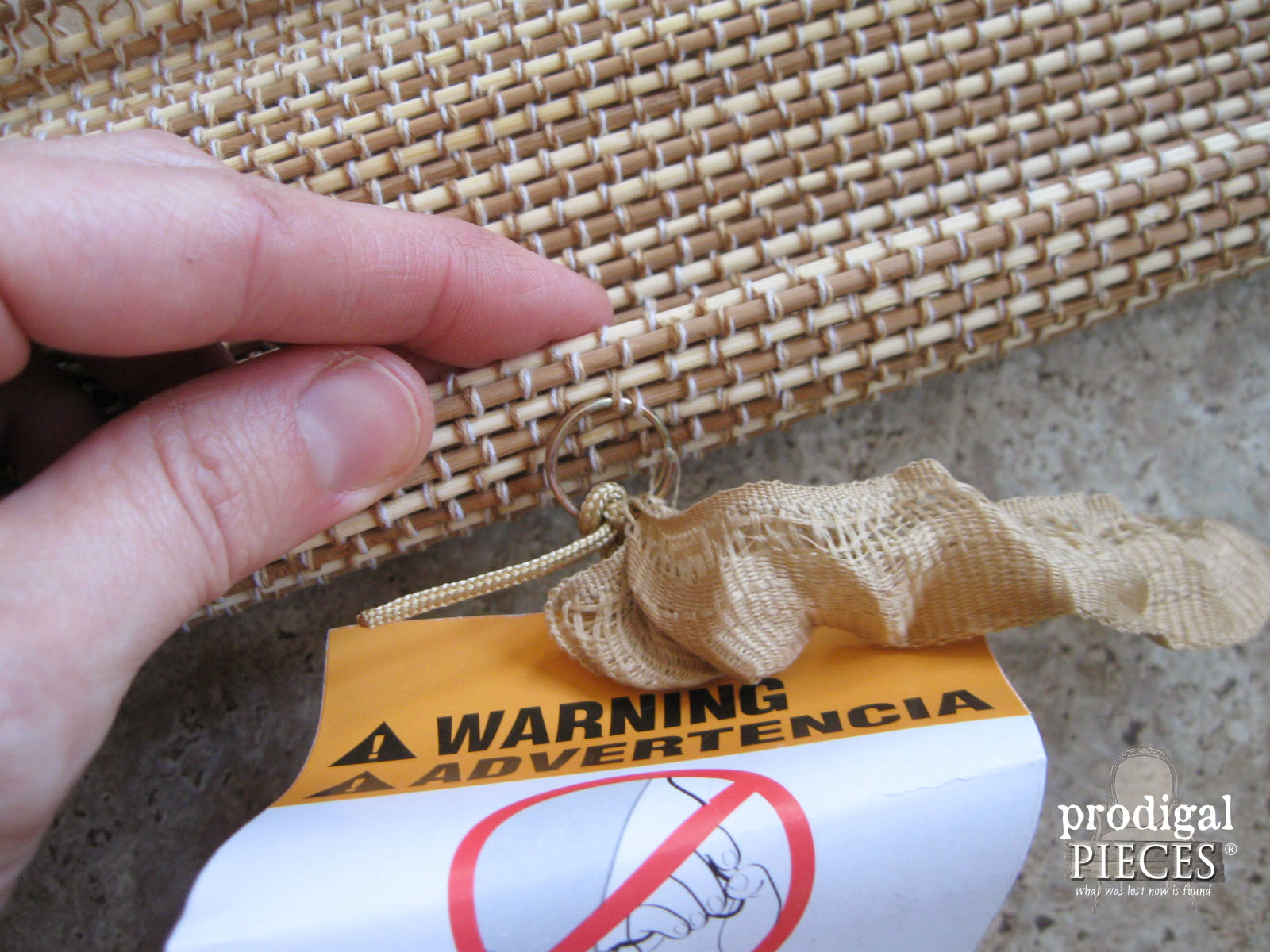 Removing Bamboo Shade Rings | Prodigal Pieces | www.prodigalpieces.com