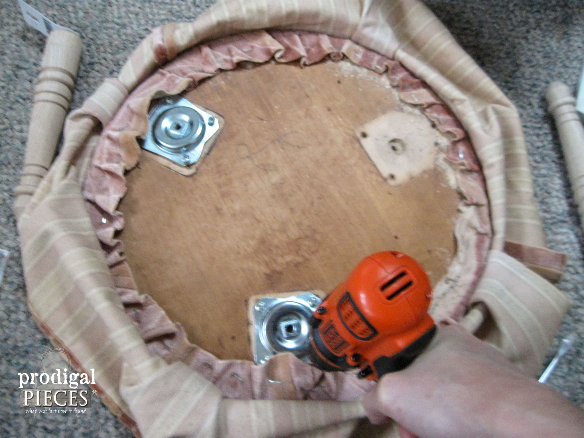 Replacing Upholstered Footstool Brackets | Prodigal Pieces | www.prodigalpieces.com